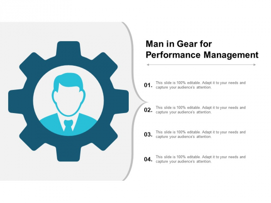 Man In Gear For Performance Management Ppt PowerPoint Presentation Summary Influencers