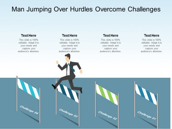Man Jumping Over Hurdles Overcome Challenges Ppt PowerPoint Presentation Model Files