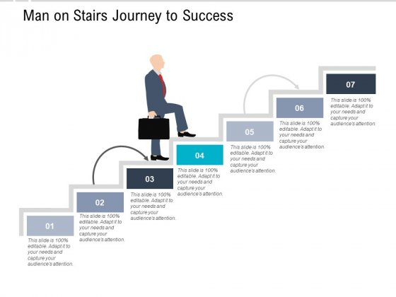 Man On Stairs Journey To Success Ppt PowerPoint Presentation Professional Design Ideas