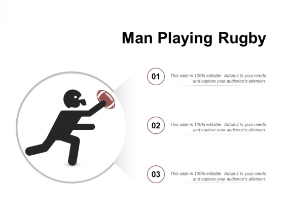 Man Playing Rugby Ppt PowerPoint Presentation Summary Infographic Template