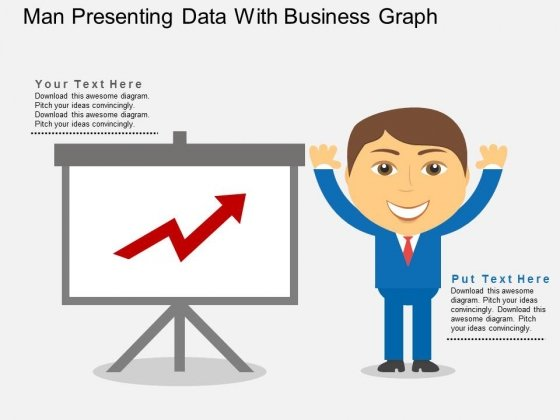 Man Presenting Data With Business Graph Powerpoint Templates