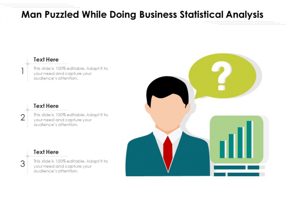 Man Puzzled While Doing Business Statistical Analysis Ppt PowerPoint Presentation File Slides PDF