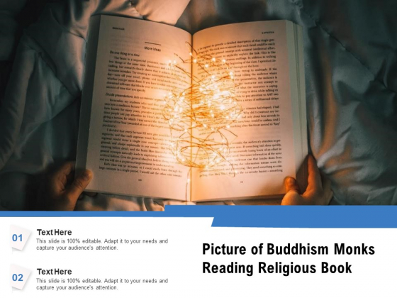 Man Reading Book In String Lights Ppt PowerPoint Presentation Pictures Slides PDF