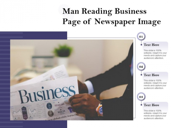 Man Reading Business Page Of Newspaper Image Ppt PowerPoint Presentation Styles Skills PDF