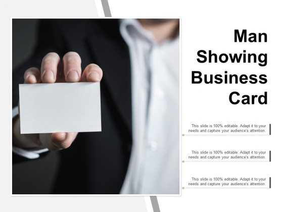Man Showing Business Card Ppt PowerPoint Presentation Slides Inspiration