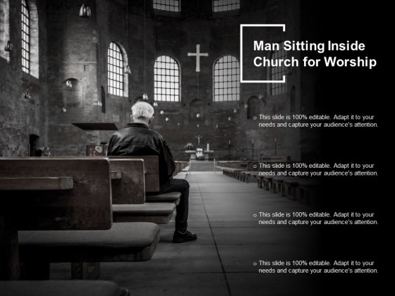 Man Sitting Inside Church For Worship Ppt PowerPoint Presentation Outline Graphics Design