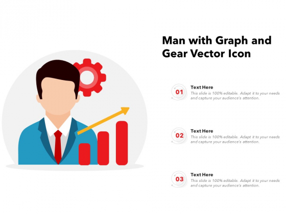 Man With Graph And Gear Vector Icon Ppt PowerPoint Presentation File Slides PDF