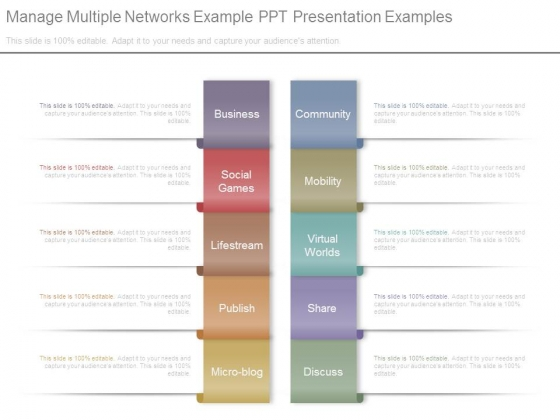 Manage Multiple Networks Example Ppt Presentation Examples