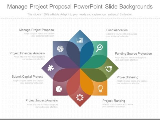 Manage Project Proposal Powerpoint Slide Backgrounds