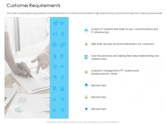 Managed IT Services Pricing Model Customer Requirements Ppt Styles Show PDF