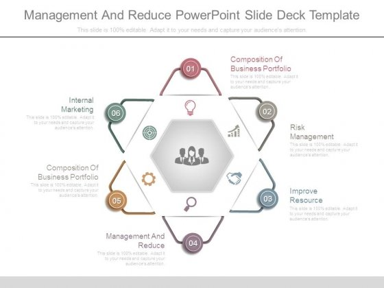 Management And Reduce Powerpoint Slide Deck Template