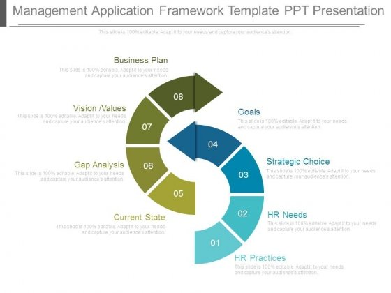 Management Application Framework Template Ppt Presentation