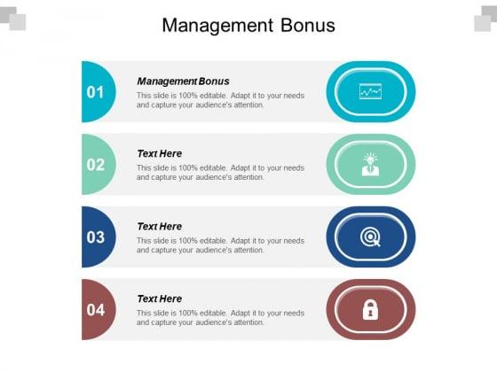 Management Bonus Ppt PowerPoint Presentation Summary Deck Cpb