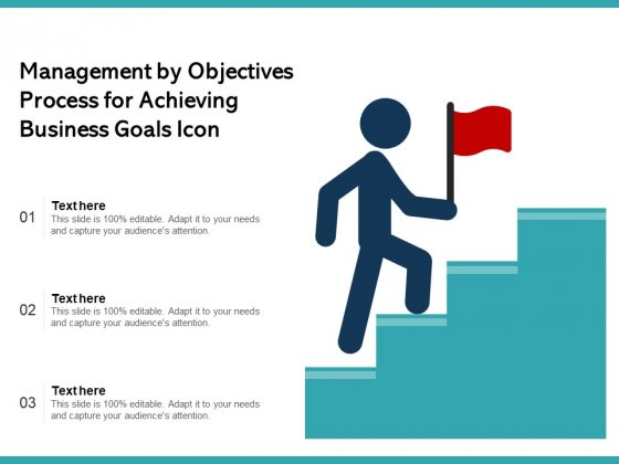 Management By Objectives Process For Achieving Business Goals Icon Ppt PowerPoint Presentation Gallery Background Designs PDF