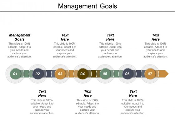 Management Goals Ppt PowerPoint Presentation Gallery Graphics Pictures Cpb