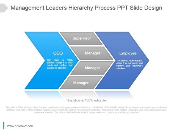 Management Leaders Hierarchy Process Ppt Slide Design