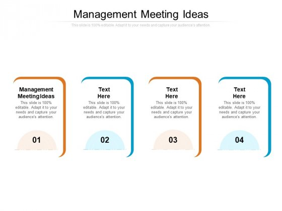 Management Meeting Ideas Ppt PowerPoint Presentation Pictures Templates Cpb