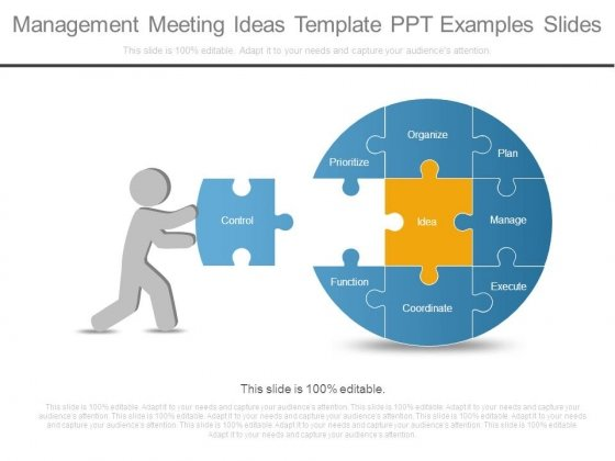 Management Meeting Ideas Template Ppt Examples Slides