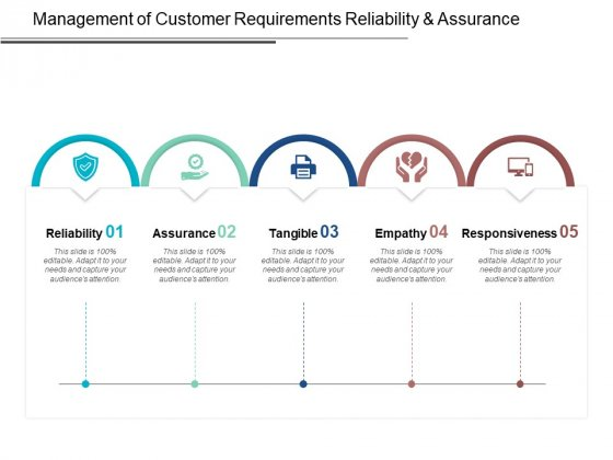 Management Of Customer Requirements Reliability And Assurance Ppt PowerPoint Presentation Model Infographics
