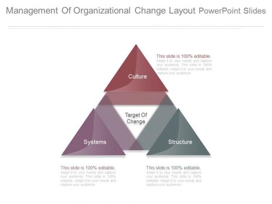 Management Of Organizational Change Layout Powerpoint Slides