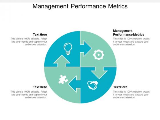 Management Performance Metrics Ppt PowerPoint Presentation Inspiration Display Cpb
