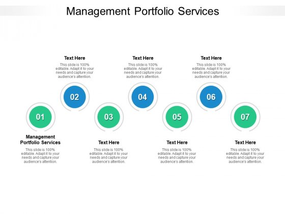 Management Portfolio Services Ppt PowerPoint Presentation Gallery Backgrounds Cpb Pdf