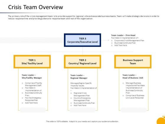 Management Program Presentation Crisis Team Overview Ppt Model Gridlines PDF