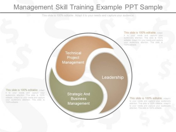 Management Skill Training Example Ppt Sample