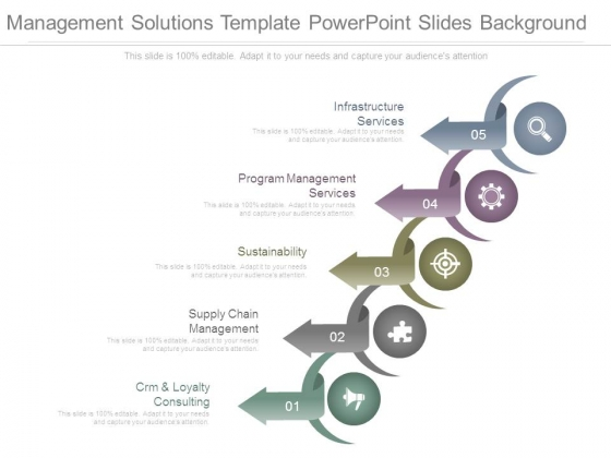 Management Solutions Template Powerpoint Slides Background