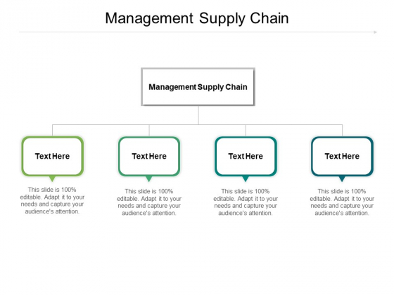 Management Supply Chain Ppt PowerPoint Presentation Ideas Infographic Template Cpb Pdf