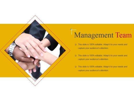 Management Team Template 1 Ppt PowerPoint Presentation Icon Slide Portrait