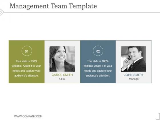 Management Team Template 3 Ppt PowerPoint Presentation Diagrams