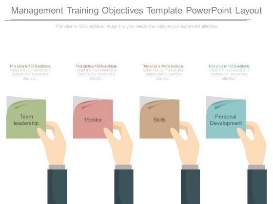 Management Training Objectives Template Powerpoint Layout