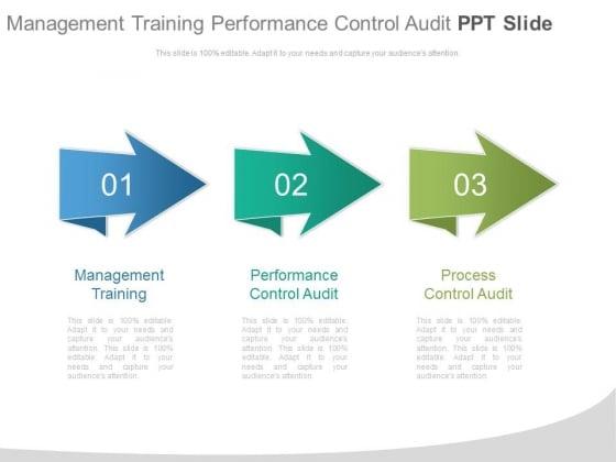 Management Training Performance Control Audit Ppt Slide