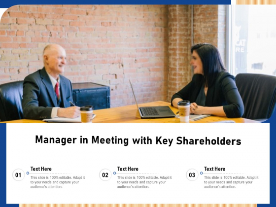 Manager In Meeting With Key Shareholders Ppt PowerPoint Presentation File Graphic Images PDF
