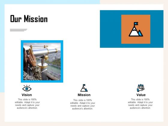 Managing Agriculture Land And Water Our Mission Ppt Portfolio Graphics PDF
