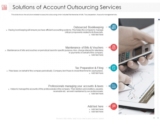Managing CFO Services Solutions Of Account Outsourcing Services Ppt File Icon PDF