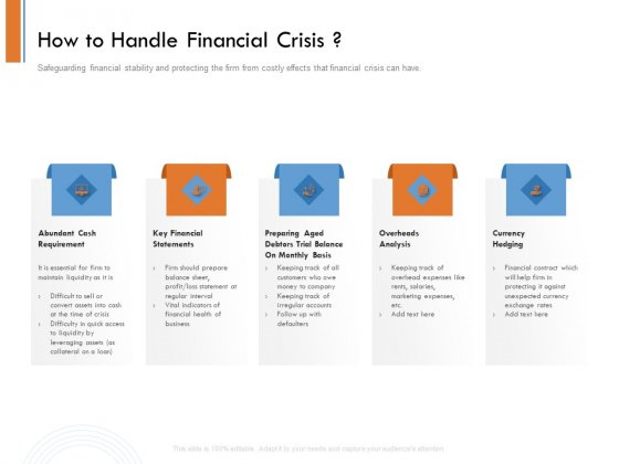 Managing Companys Online Presence How To Handle Financial Crisis Themes PDF