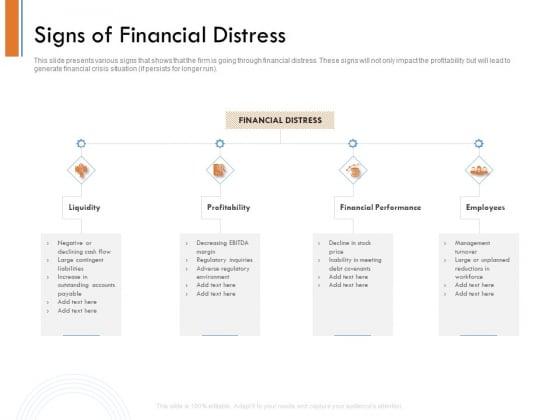 Managing Companys Online Presence Signs Of Financial Distress Formats PDF