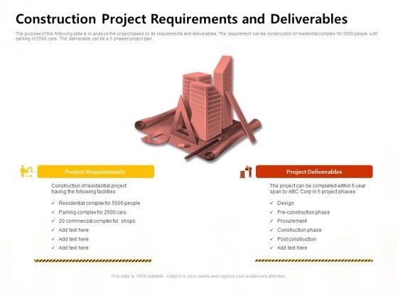 Managing Construction Work Construction Project Requirements And Deliverables Structure PDF