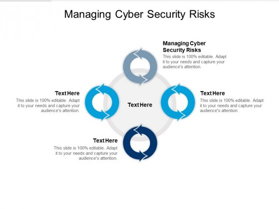 Managing Cyber Security Risks Ppt PowerPoint Presentation Outline Slide Cpb