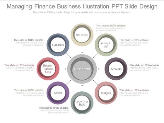 Managing Finance Business Illustration Ppt Slide Design