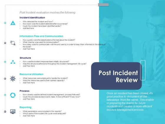 Managing ITIL Incidents Planning Post Incident Review Inspiration PDF
