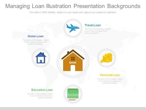 Managing Loan Illustration Presentation Backgrounds