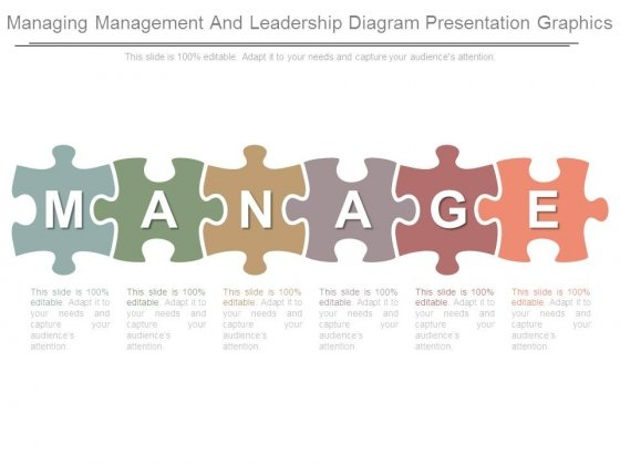 Managing Management And Leadership Diagram Presentation Graphics