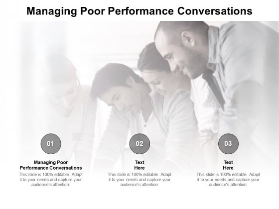 Managing Poor Performance Conversations Ppt PowerPoint Presentation Layouts Format Cpb Pdf