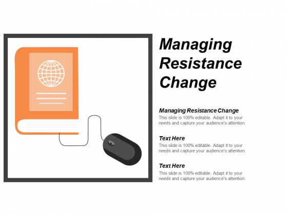 Managing Resistance Change Ppt PowerPoint Presentation Infographic Template Slides Cpb