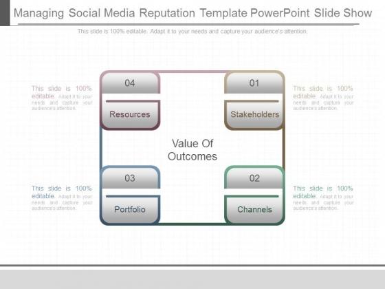 Managing Social Media Reputation Template Powerpoint Slide Show