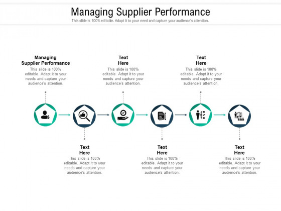 Managing Supplier Performance Ppt PowerPoint Presentation Gallery Gridlines Cpb Pdf
