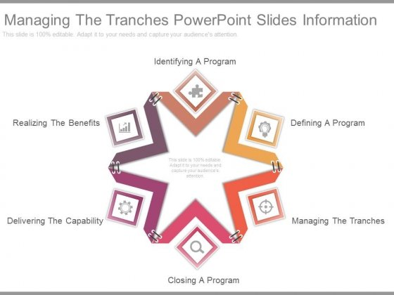 Managing The Tranches Powerpoint Slides Information